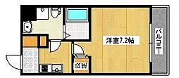 JR東海道・山陽本線 六甲道駅 徒歩8分の賃貸マンション 2階1Kの間取り