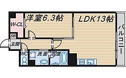 大阪府豊中市利倉2丁目の賃貸マンションの間取り