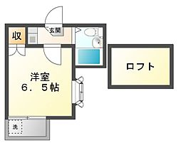 神奈川県川崎市高津区梶ケ谷2丁目の賃貸アパートの間取り