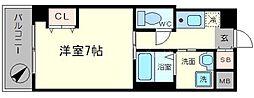 ELLE難波WEST[9階]の間取り