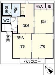 シャトーエレガンス A棟[2階]の間取り