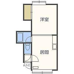 第22森宅建マンション[2階]の間取り