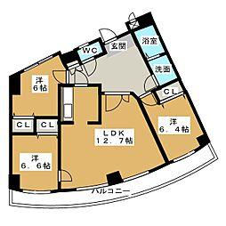 ツリーベル富士宮[4階]の間取り