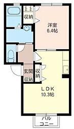 コナ・ヴィレッジC[2階]の間取り
