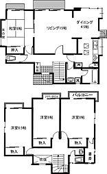 [一戸建] 茨城県つくば市二の宮4丁目 の賃貸【/】の間取り