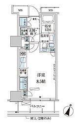 パークアクシス赤坂見附[4階]の間取り