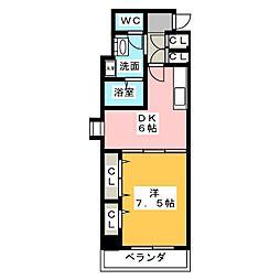 AVENUE23(アヴェニュー23)[9階]の間取り