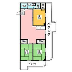 第5中村ハイツ[5階]の間取り