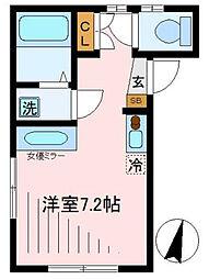 東京メトロ丸ノ内線 中野新橋駅 徒歩3分の賃貸アパート 3階ワンルームの間取り