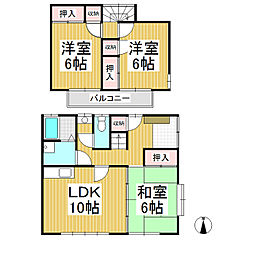 [テラスハウス] 長野県長野市丹波島1丁目 の賃貸【長野県 / 長野市】の間取り