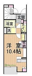 メゾンドソレイユIII[101号室]の間取り