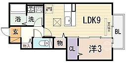 [テラスハウス] 大阪府八尾市八尾木5丁目 の賃貸【/】の間取り