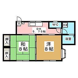 KMD四番館[1階]の間取り