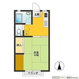 武蔵野ハイツ[102号室]の間取り