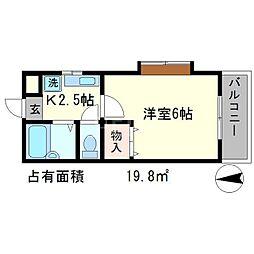 パルシャトー豊田[3階]の間取り
