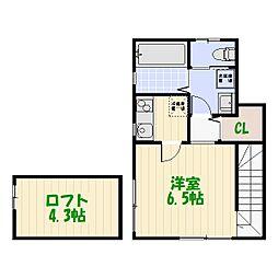 東京都葛飾区高砂5丁目の賃貸アパートの間取り