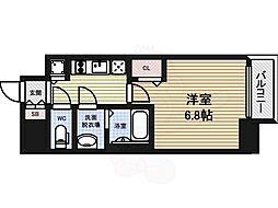 プレサンス大曽根駅前ファースト 13階1Kの間取り