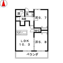 Life Mezon 安東[3階]の間取り