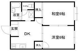 メゾンOKAZAKI _[105号室]の間取り