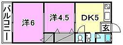 東栄荘[22 号室号室]の間取り