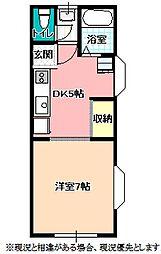 ハイツMAI[1階]の間取り