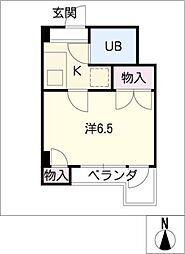 ファミリー白砂[3階]の間取り