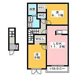 グラシューII[2階]の間取り