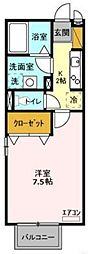 千葉県船橋市印内2丁目の賃貸アパートの間取り