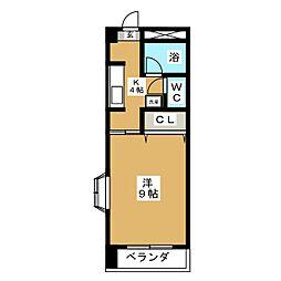 レジデンスSUZUKI[3階]の間取り