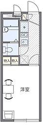 西武新宿線 狭山市駅 バス17分 根岸中央下車 徒歩6分の賃貸マンション 2階1Kの間取り