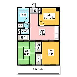 東野興産第1ビル[3階]の間取り