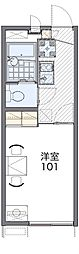JR東海道・山陽本線 吹田駅 徒歩17分の賃貸アパート 1階1Kの間取り