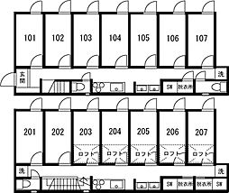 板橋本町IIシェアハウス[202号室]の間取り