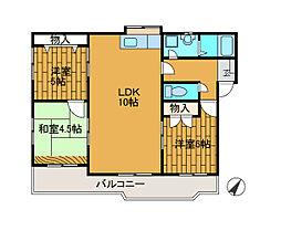 テラカーサ南台[3階]の間取り