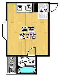 兵庫県尼崎市梶ケ島の賃貸マンションの間取り