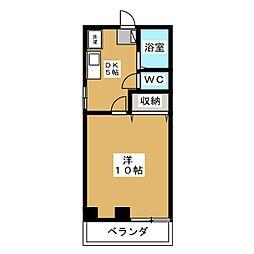 リズミラル−U[3階]の間取り