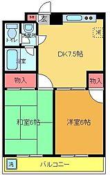 コーポTANAKA[2階]の間取り