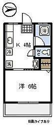 宮崎県宮崎市神宮東2丁目の賃貸アパートの間取り