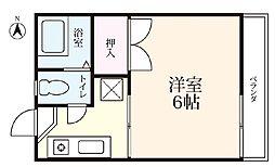 高崎ハイツ[205号室]の間取り