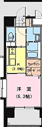 California APT ~カリフォルニア アパートメント~ 4階1Kの間取り