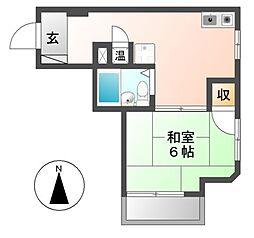 サウスタウン上飯田[2階]の間取り