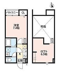 JR京浜東北・根岸線 大宮駅 徒歩14分の賃貸アパート 1階1Kの間取り