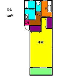 静岡県浜松市浜北区小林の賃貸アパートの間取り