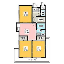コーポKAMADA[2階]の間取り