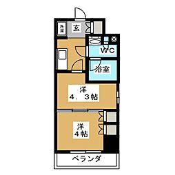 パークアクシス横濱大通り公園 7階1DKの間取り