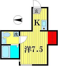 ベルディグリ堀切菖蒲園[1階]の間取り