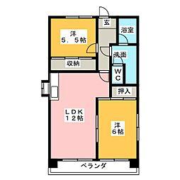 第3田中ビル[7階]の間取り
