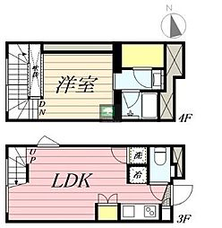 PASEO新宿3丁目1 3階1LDKの間取り