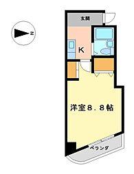 コーポルネッサンス[3階]の間取り