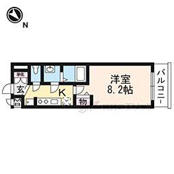 叡山電鉄叡山本線 一乗寺駅 徒歩5分の賃貸マンション 4階1Kの間取り